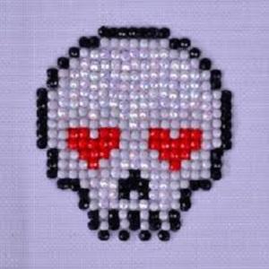 Diamond Dotz Suger Skull 7x7cm