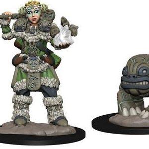 Wizkids Wardlings - Girl Druid & Stone Creature
