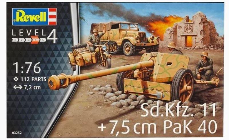 Revell Sd.Kfz.11 + 7,5cm Pak 40 (1:76) Skill 4 - 03252