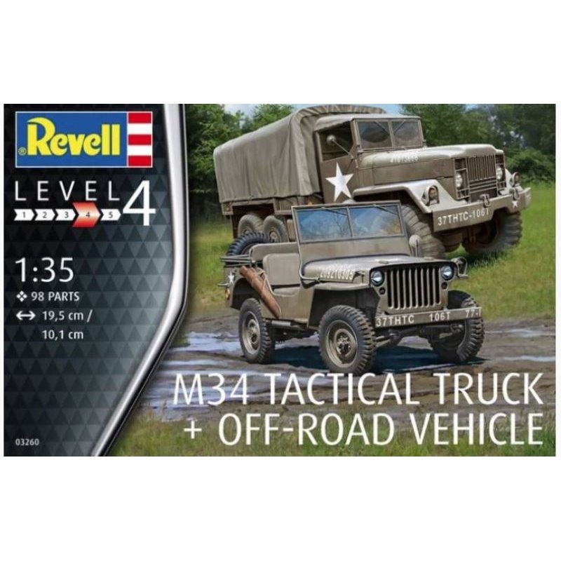 Revell M34 Tactical Trick & Offroad verhicle (1:35) Skill 4 - 03260