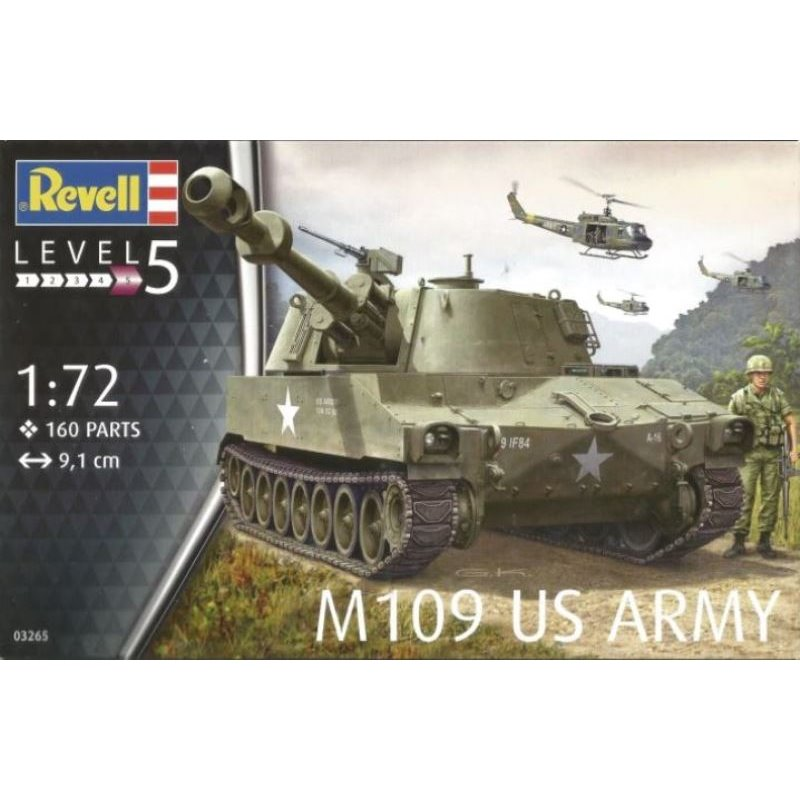 Revell M109 US Army (1:72) Skill 5 - 03265