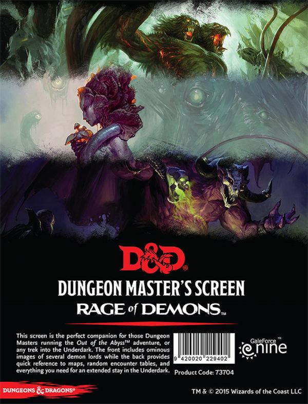 D&D 5.0 Dungeon Master's Screen Rage of Demons