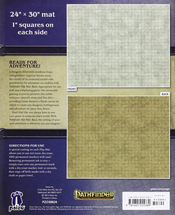 """Pathfinder RPG Flip-Mat Basic 24x 30"""" 1"""" Squares"""""""