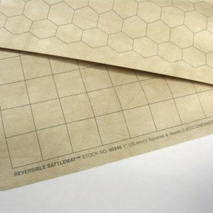 "Chessex Reversible Battlemat 23,5x26"" 1"" Squares & Hexes"""
