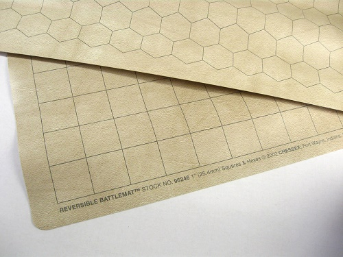 "Chessex Reversible Battlemat 23,5x26"" 1"" Squares & Hexes"""