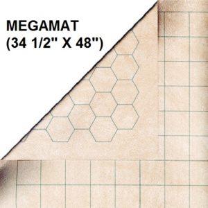"Chessex Reversible Megamat 34,5x48"" 1"" Squares & Hexes"""