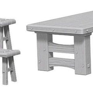 WizKids Pathfinder Deep Cuts: Wooden Table & Stools