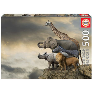 Animals on the Edge of a Cliff (500)