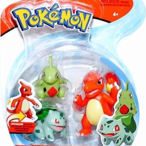 Pokemon Battle Figures Wave 7: Charmeleon + Bulbasaur + Larvitar