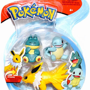 Pokemon Battle Figures Wave 7: (5-8cm) Jolteon + Squirtle +  Munchlax