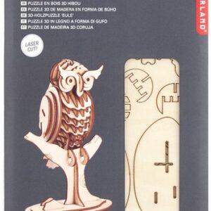 Houten 3D Puzzel Uil (42)