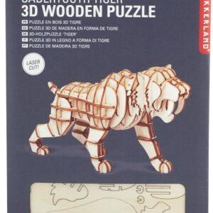 Houten 3D Puzzel Sabeltand Tijger (59)