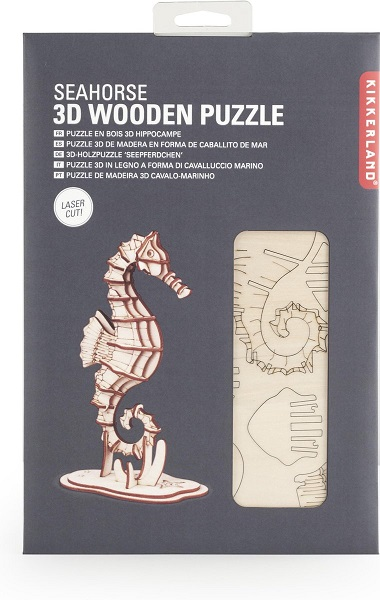 Houten 3D Puzzel Zeepaardje (33)