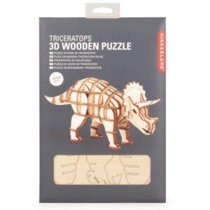Houten 3D Puzzel Triceratops (56)