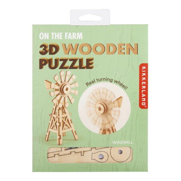 Houten 3D Puzzel Windmolen