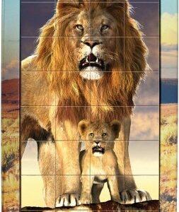 3D Magna Puzzle Portrait Lions (32)