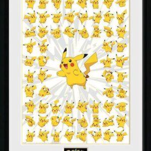 Pokemon Framed Poster Pikachu Pose 45x34cm