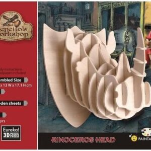 3D Puzzel Gepetto's Rinoceros Head (14)