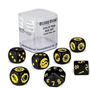 Blood Bowl Goblin Team Dice Set