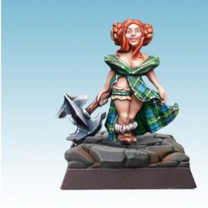 SpellCrow: Female Halfling with Axe - SPCH0406