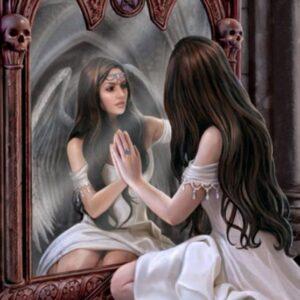 Diamond Painting Vrouw Spiegel 40x50 (nr. 111)
