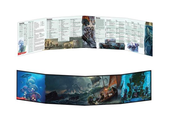 D&D 5.0 Dungeon Master's Screen Of Shops & The Sea