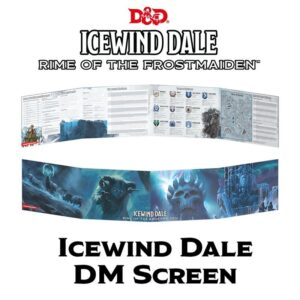 D&D 5.0 Icewind Dale Rime of the Frostmaiden DM screen