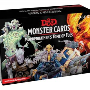 D&D 5.0 Mordenkainen's Tome of Foes Monster Cards (109 cards)