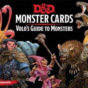 D&D 5.0 Volo's Guide To Monsters Monster Cards (81 cards)