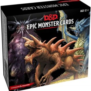D&D 5.0 Monster Cards Epic Monsters (77 cards)