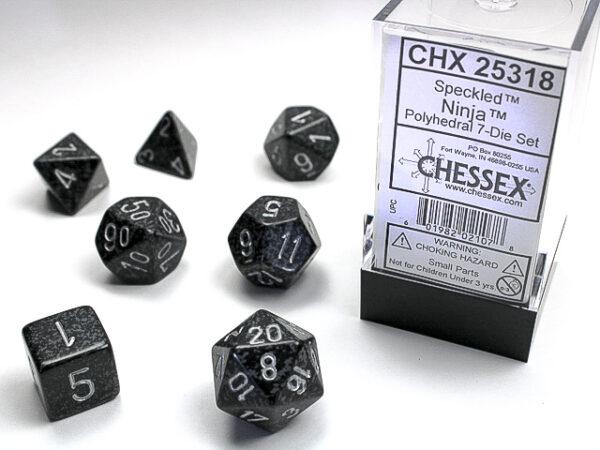 Chessex Polyhedral Speckled Ninja (7) - CHX25318