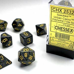 Chessex Polyhedral Speckled Urban Camo (7) - CHX25328