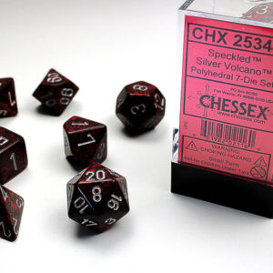 Chessex Polyhedral Speckled Silver Volcano (7) - CHX25344