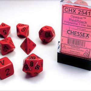 Chessex Polyhedral Opaque Red/Black (7) - CHX25414