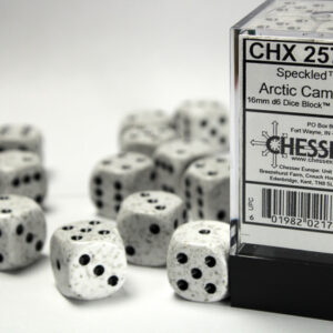 Chessex 12d6 Speckled Arctic Camo 16mm (12) - CHX25711