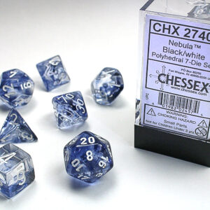 Chessex Polyhedral Nebula Black/White (7) - CHX27408