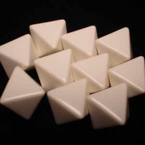 Chessex 10d8 Opaque White Blanc (10) - CHX29033