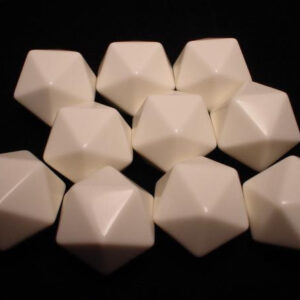 Chessex 10d20 Opaque White Blanc (10) - CHX29036