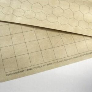 "Chessex Reversible Battlemat 23,5x26"" 1"" Squares & Hexes - CHX96246"""