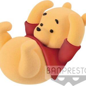 Disney Cute! Fluffy Puffy Mini Figure Winnie the Pooh 5 cm