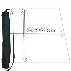 Blackfire: Playmat Ultrafine White 61x61cm with carrybag