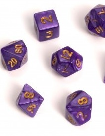 Blackfire: Dice Fairy Dice RPG Set (7) - Marbled Purple