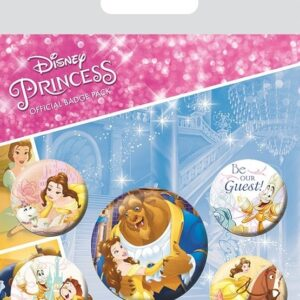 Beauty and the Beast Pin Badges 5-Pack Classic