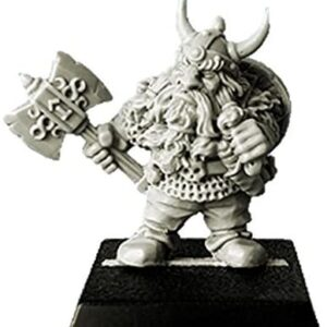 SpellCrow: Northern Dwarf with Axe and Horned Helmet - SPCH0218