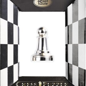 Cast Puzzle Chess Pawn (Silver)