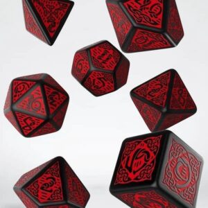 Celtic Black & Red Dice Set (7)