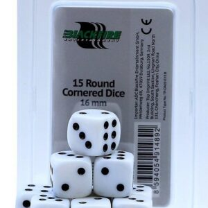 Blackfire: Dice 16mm D6 Dice - White