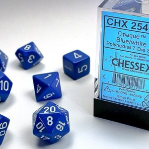 Chessex Polyhedral Opaque Blue/White (7) - CHX25406